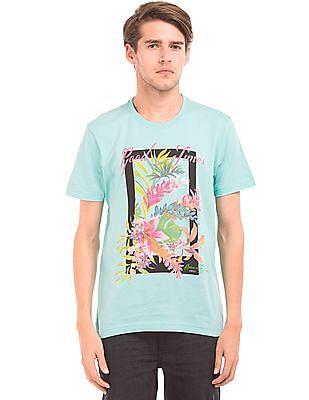 Arrow Sports Regular Fit Graphic Print T-Shirt