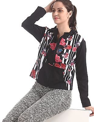 SUGR Black Printed Active Sweatshirt