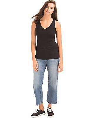GAP Women Blue Original 1969 Wide Leg Crop Jeans