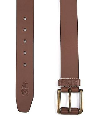 Flying Machine Tang Buckle Leather Belt