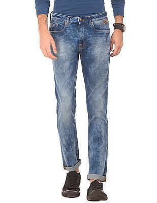 Ed Hardy Acid Washed Super Slim Fit Jeans