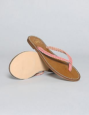 GAP Braid Leather Flip Flops