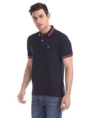 Arrow Sports Quick Dry Tipped Polo Shirt