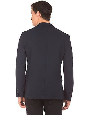 Flying Machine Single Breasted Textured Blazer