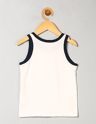 GAP Boys White Contrast Tank Top