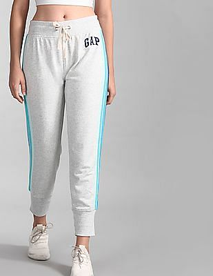 GAP Grey Vintage Soft Logo Side Stripe Joggers