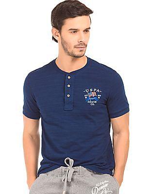 U.S. Polo Assn. Denim Co. Heathered Henley T-Shirt