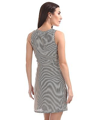 U.S. Polo Assn. Women Striped Fit And Flare Dress