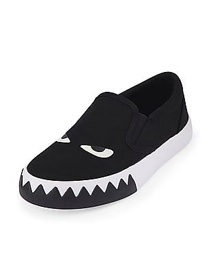 The Children's Place Boys Slip On Glow-In-The-Dark Monster Shoe