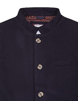 U.S. Polo Assn. Kids Boys Mandarin Collar Wool Nehru Jacket