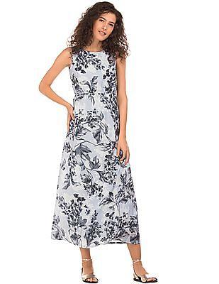 Elle Floral Print Sleeveless Maxi Dress