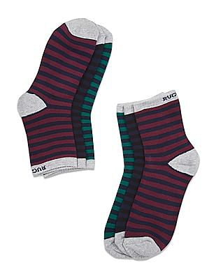 Ruggers Ankle Length Socks - Pack Of 3