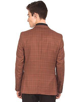 Arrow Regular Fit Check Blazer