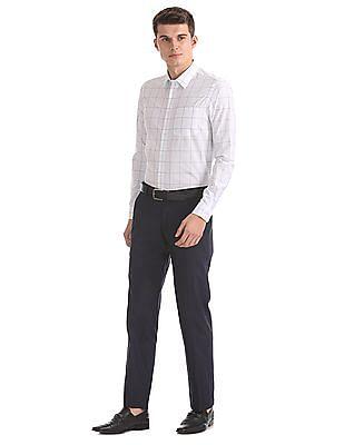 Arrow Newyork Slim Fit Windowpane Check Shirt