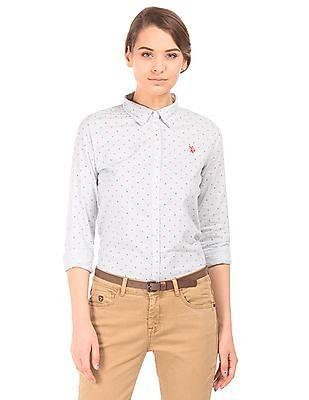 U.S. Polo Assn. Women Striped Cotton Shirt