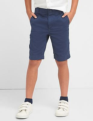 GAP Boys Blue Everyday Shorts In Twill