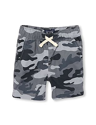 The Children's Place Toddler Boy Camo Printed Pull-On Woven Jogger Shorts