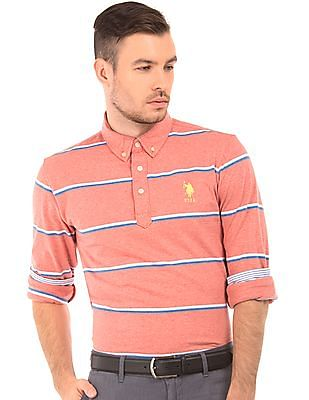 U.S. Polo Assn. Striped Button Down Polo Shirt