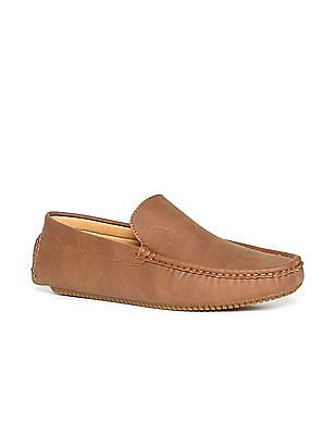 U.S. Polo Assn. Brown Textured Loafers