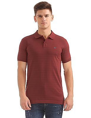 Ruggers Regular Fit Patterned Polo Shirt
