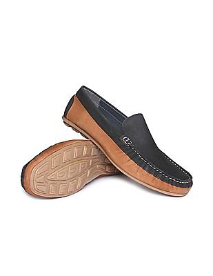 U.S. Polo Assn. Colour Blocked Leather Loafers