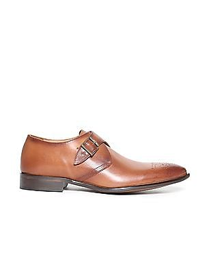 Arrow Leather Monk Strap Shoe