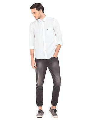 U.S. Polo Assn. Tailored Fit Linen Shirt