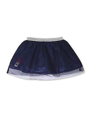 Colt Blue Girls Mesh Layered Skirt