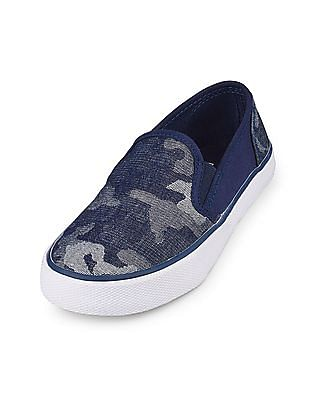 The Children's Place Boys Printed Low-Top Rockstar Sneaker