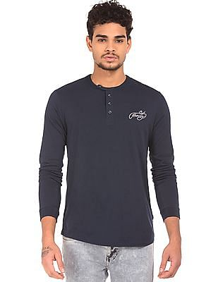 Ed Hardy Slim Fit Henley T-Shirt