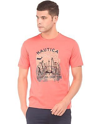 Nautica Graphic Print Regular Fit T-Shirt
