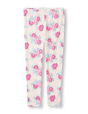 The Children's Place Girls Flower Print Leggings