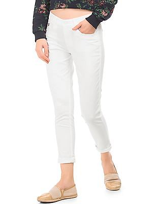 U.S. Polo Assn. Women Low Rise Skinny Fit Trousers