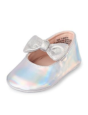 The Children's Place Baby Girl Bow Ballet Shoes