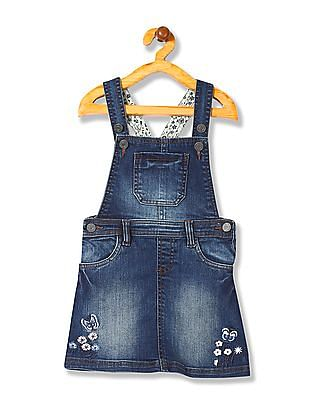 Cherokee Girls Denim Dungaree Skirt