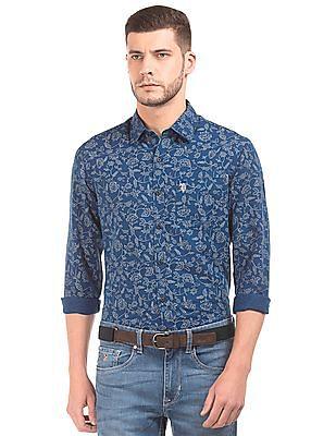U.S. Polo Assn. Floral Print Cotton Linen Shirt