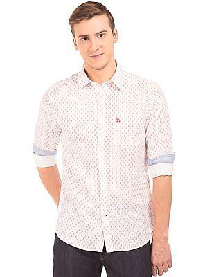 U.S. Polo Assn. Paisley Print Linen Cotton Shirt