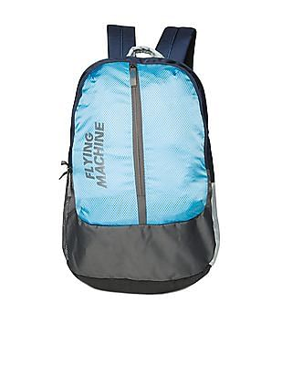Flying Machine Colour Blocked Laptop Backpack