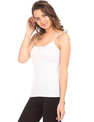 Aeropostale Solid Cotton Spandex Camisole