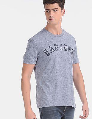 GAP Men Blue Space Dye Logo T-Shirt
