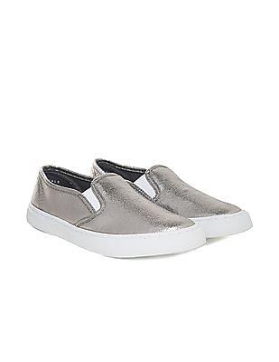 Aeropostale Grained Metallic Slip On Shoes