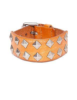 Ed Hardy Studded Sanded Leather Bracelet