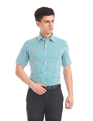 Arrow Regular Fit Vertical Stripe Shirt