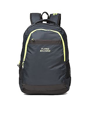 Flying Machine Contrast Zip Laptop Backpack