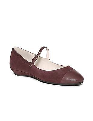 Cole Haan Cap Toe Suede Mary Janes
