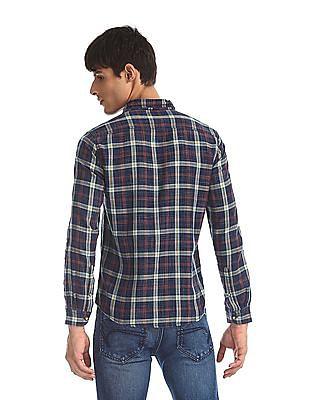 Cherokee Blue Patch Pocket Check Shirt