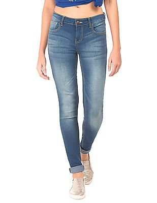 Newport Stone Washed Skinny Fit Jeans