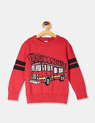 GAP Red Toddler Boy Graphic Cotton Sweater