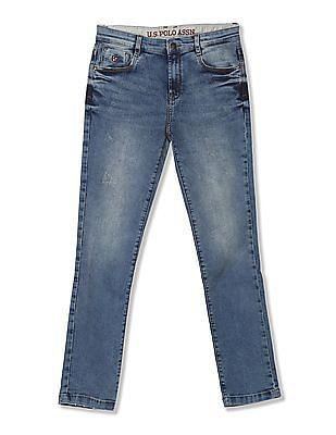 U.S. Polo Assn. Kids Boys Slim Fit Distressed Jeans