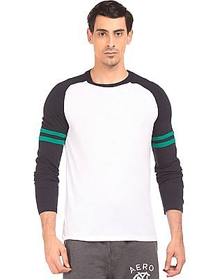 Aeropostale Raglan Sleeve Colour Block T-Shirt